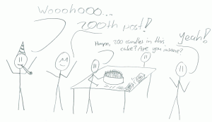 200 posts party