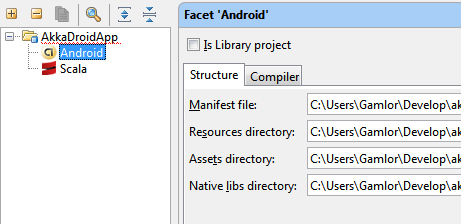 Android and Scala Facette